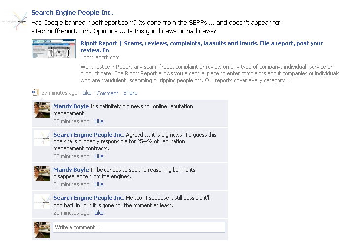 SEP Facebook Posting