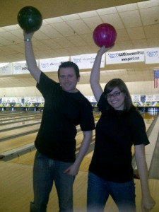 Mandy and Mike at Bowl for Kids' Sake